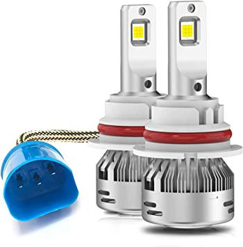30mm Heatsink Base Mini Size Pack of 2 LASFIT 9007 HB5 LED Headlight bulbs High and Low Beam Super Bright 6000K Cool White Led Light Kit New Gen LC Plus