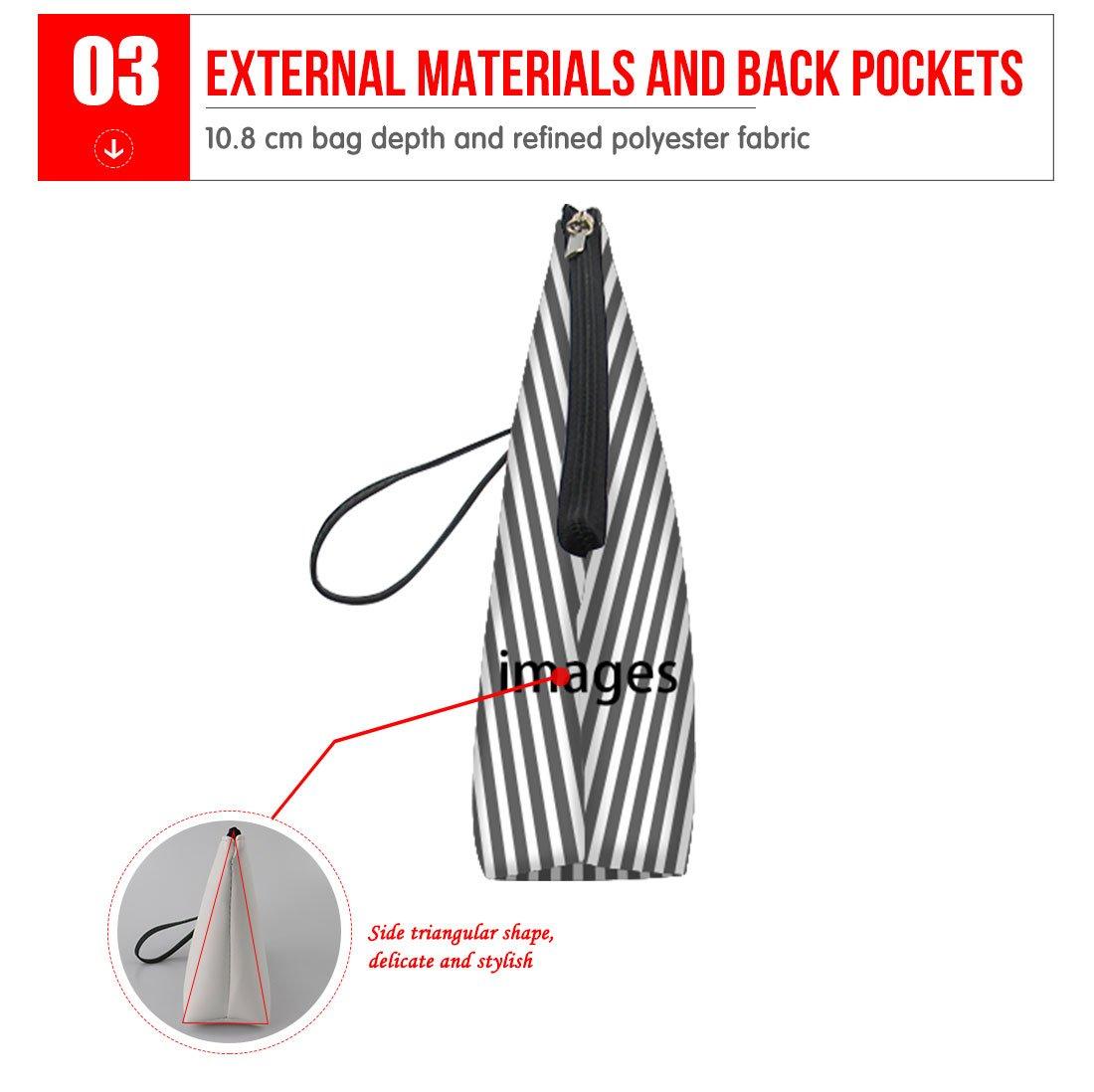 Mumeson Floral Schnauzer Pattern Trapezoid Make Up Bags Clutch Handbags by Mumeson (Image #4)