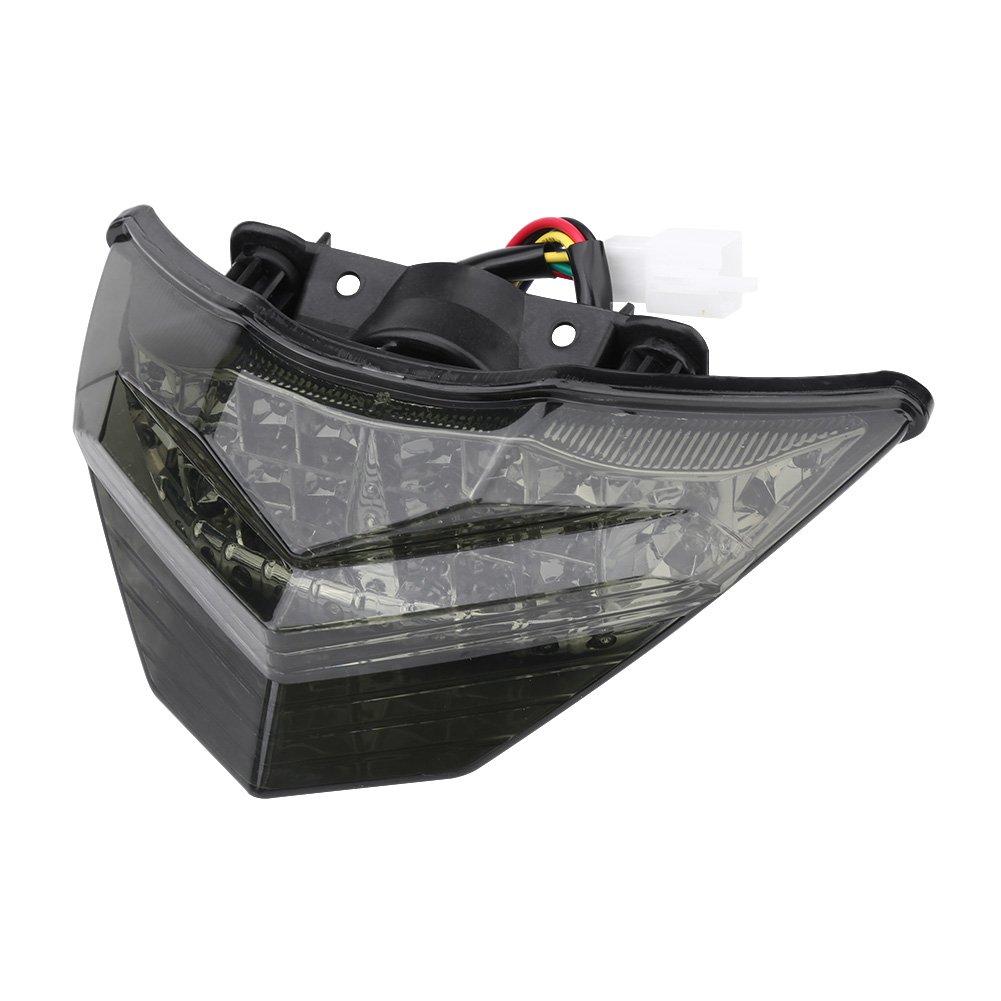 Keenso Motorcycle Smoke Tail Brake Light Turn Signals Light LED linker Lamp Smoke Lens Rider for Kawasaki Ninja 250 300 2013-2015