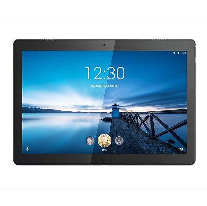 Lenovo Tab M10 Tablet, Pantalla de 10,1 Pulgadas HD, procesador Qualcomm, 32 GB ampliables hasta 128 GB, RAM 2 GB, WiFi+LTE, Android Oreo, Slate Black