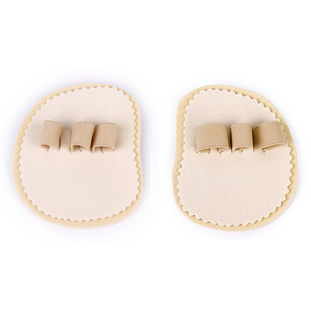 Footful 1 Pair Mallet Overlapping Toe Straightener 3-Toe Spreader Correctors Generic