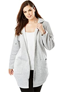 2ecbdde0781 Woman Within Plus Size Zip-Front Microfleece Jacket at Amazon ...