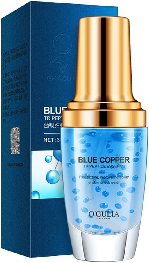 OUDIS CORPORATION Hydrating Blue Copper Peptide Face Serum Shrinking Pores Face Serum for Woman