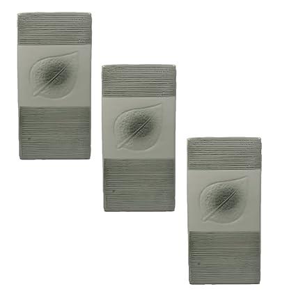 Viva-Haushaltswaren – 3 cerámica agua – Humidificador para radiadores (Diseño con hojas