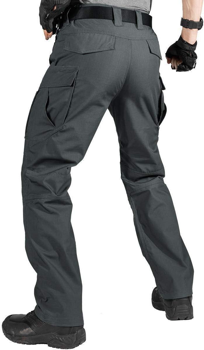 FREE SOLDIER Pantalon Cargo pour Homme en Plein air Pantalon d/écontract/é avec Plusieurs Poches Extensible Camping Militaire et Urbain