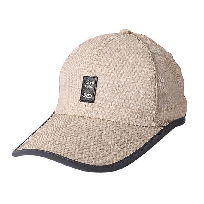 0685e0003a2 Rawdah Men Women Adjustable Summer Style Fashion Breathable Sports Baseball  Sunscreen Cap Snapback Hip-Hop Hat Unisex Cap White