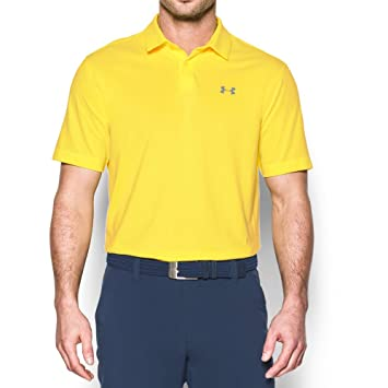 Under Armour Mens CoolSwitch Microthread Polo, Tokyo Lemon (159 ...