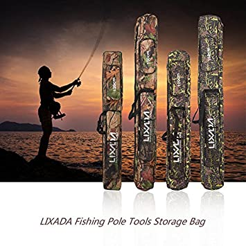 Lixada Fishing Tackle Bag Two Layer Large Capacity Folding Fishing Rod Carry Case Fishing Pole Storage Bag 120-150cm