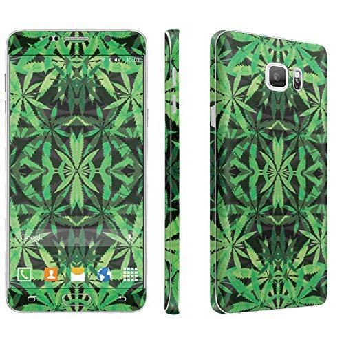 Samsung Galaxy Note 5 Phone Skin - [SkinGuardz] Full Body Scratch Proof Vinyl Decal Sticker with [WallPaper] ] - [Mirror Weed] for Samsung Galaxy Note 5