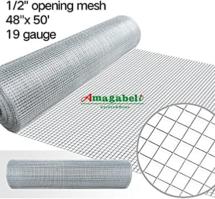 Amazon.com: 48 x 50 1/2inch Openings Square Mesh Welded Wire 19 ...
