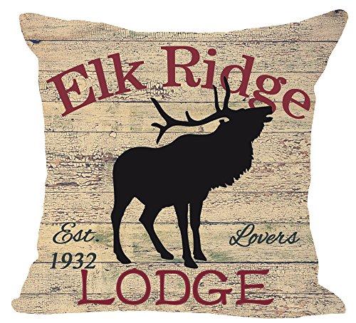 European Retro animal Moose creek inn and bath shop Elk ridge Lodge Cotton Linen Square Throw Waist Pillow Case Decorative Cushion Cover Pillowcase Sofa 18