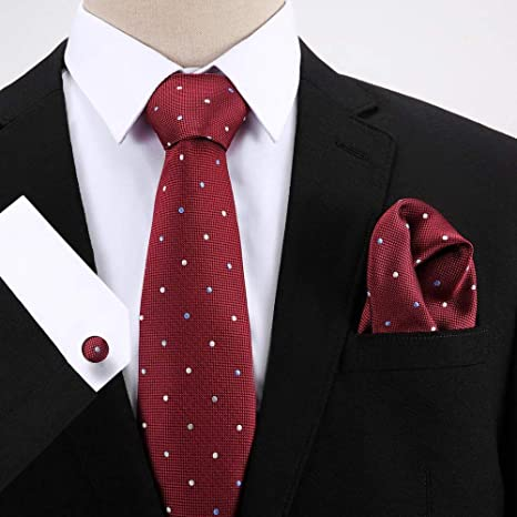 HYCZJH Lunares de Seda para Hombre Corbatas Corbata Conjunto para ...