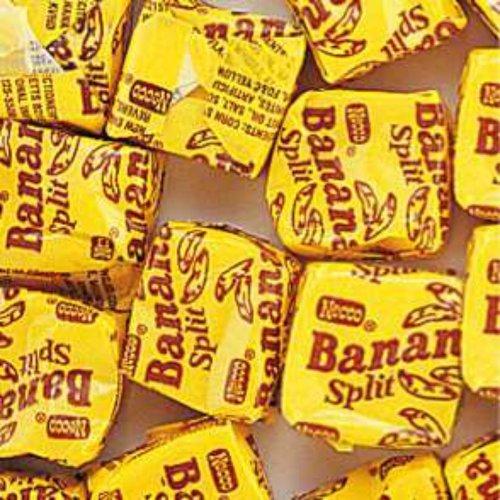 - NECCO Yellow Banana Split Candy Chews 1LB Bag