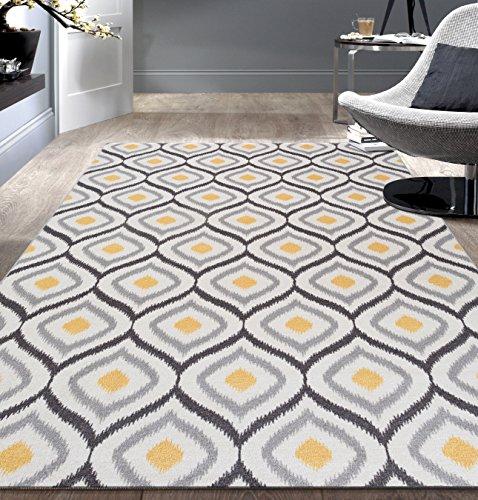 Moroccan Non Slip Non Skid 10 Gray Yellow product image