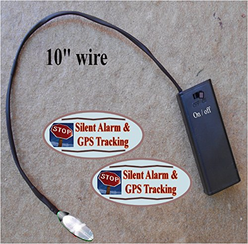 White Flashing LED Auto Theft Deterrent – Fake Car Alarm System Flasher – Battery operated by 2 AAA – On/Off switch – Available in 6 color choices – 2 Window Warning Decals