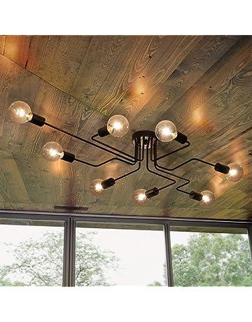 Vintage Deckenleuchte OYI Industrielle Pendelleuchte Kronleuchter Leuchte  Mit E27 Lampefassung Für Wohnzimmer Schlafzimmer Esszimmer Flur Bar