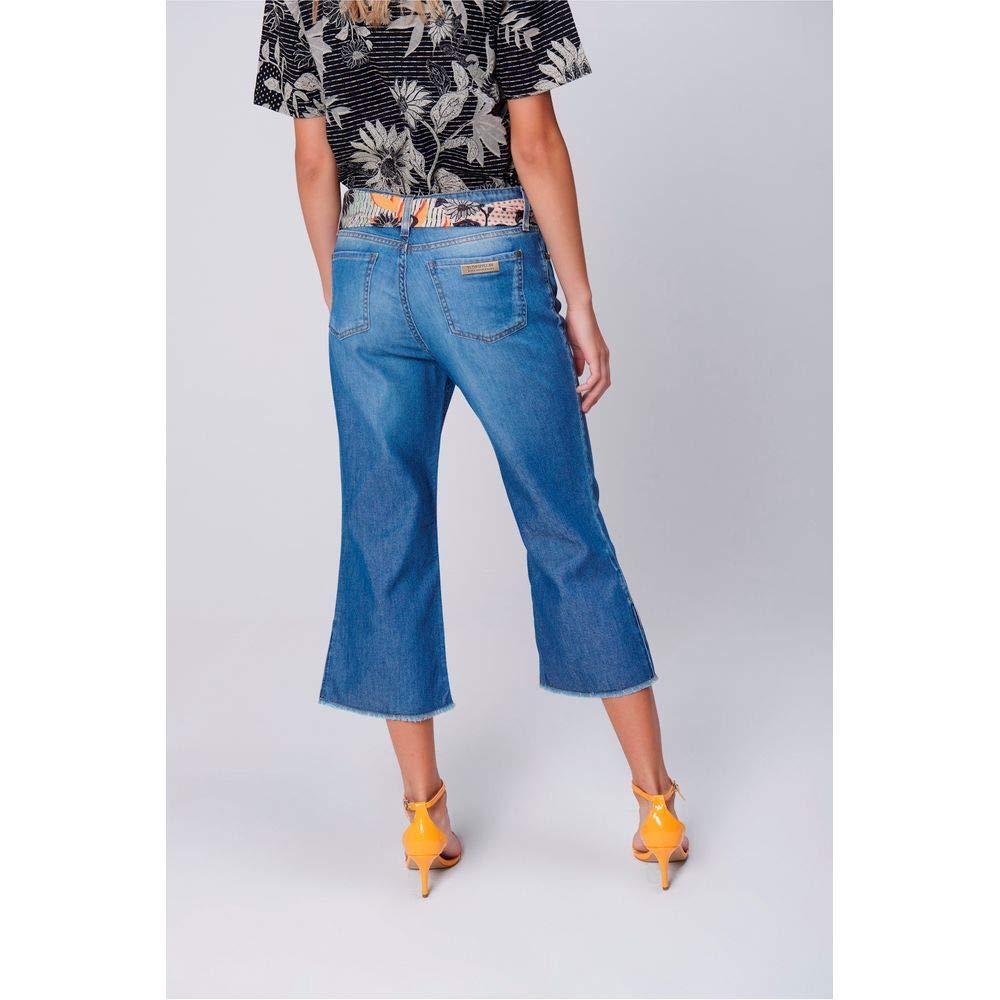 2f5aba062 Pantacourt Jeans Cinto de Lenço Feminina: Amazon.com.br: Amazon Moda