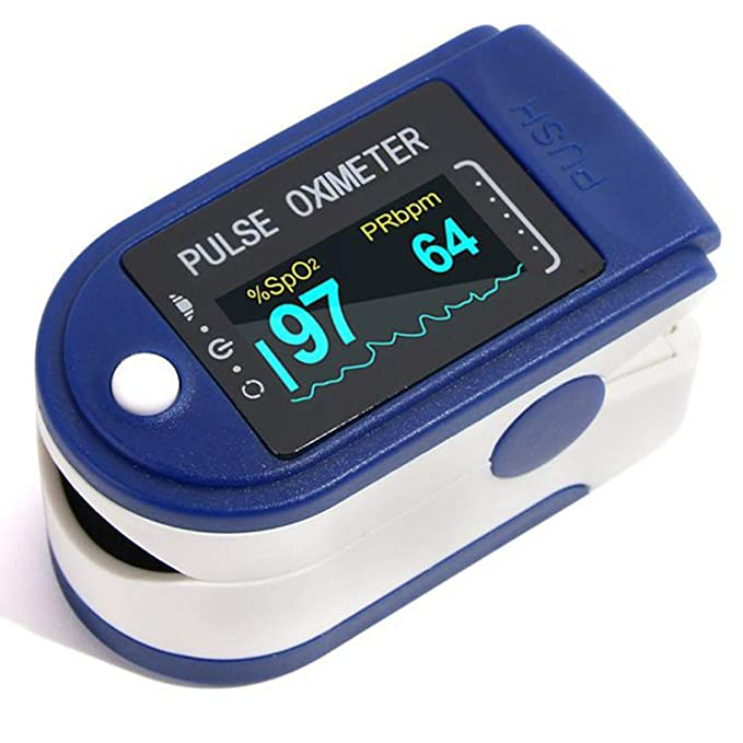 DMC Fingertip High Accuracy Pulse Oximeter, Blood Oxygen Saturation Monitor, SpO2 and Heart Rate Monitor (AAA Pencil Cell Batteries Not Included For Transport Safety)