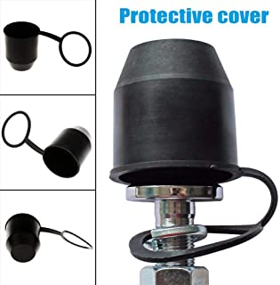 ETbotu Universal 50mm Ooval Car Towbar Towball Plastic Cap Tow Ball Towing Protective Cover Black