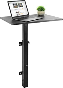 Mount-It! Height Adjustable Wall Mounted Workstation | Sit Stand Floating Computer Desk with 24x16 Inch Surface for Laptops and Desktops