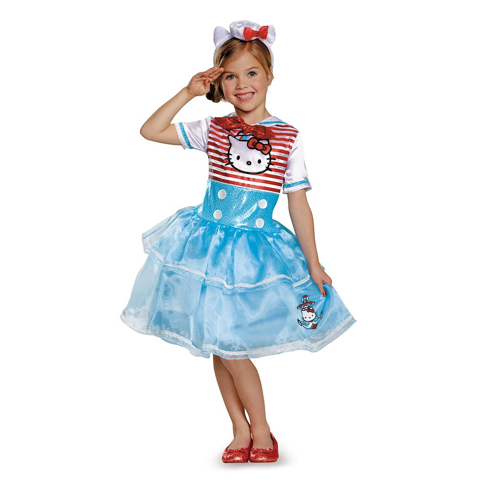 Disguise 88678K Hello Kitty Sailor Deluxe Tutu Costume, Medium (7-8) by Disguise
