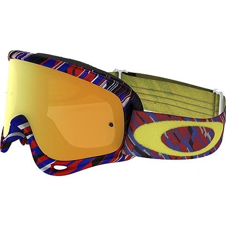c16d520a0f Amazon.com  Oakley O-Frame MX Rain Of Terror Men s Dirt Off-Road Motorcycle  Goggles Eyewear - White 24K Iridium+Clear One Size Fits All  Automotive