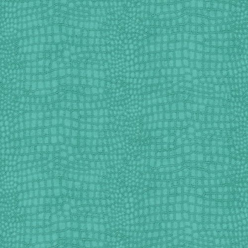 Graham and Brown 32-649 56 Square Foot - Crocodile Turquoise - Non-Pasted Vinyl, N/A ()