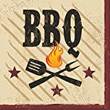 Creative Converting 18 Count Beverage Napkins, BBQ Master