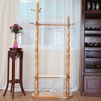 Amazon.com: Chunlan - Perchero de madera maciza creativa ...