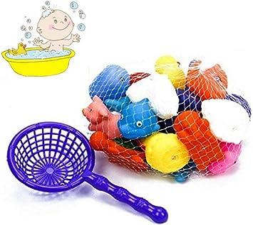 Techrace 10 Piezas Juguete Ba/ño Bebe Animalitos Juguetes con Sonidos Toy Diverdidos Lindos para Agua Piscina Ba/ño