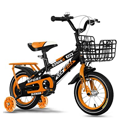 Kids' Bikes Balance Bike Toddler Bike Comfortable Saddle Riding 5-Year-Old Children's Bicycle Height Adjustable Outdoor Children's Tricycle (Color : Orange, Size : 18 inches): Home & Kitchen