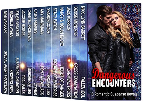 Nerve-wracking thrills and dangers, heart-melting romance and love…  Get your heartbeat racing with 13 romantic-suspense novels by NY Times, USA Today and Amazon bestselling authors: DANGEROUS ENCOUNTERS