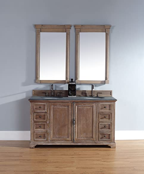 Amazon.com: 60 in. Double Vanity Cabinet in Driftwood: Home ...