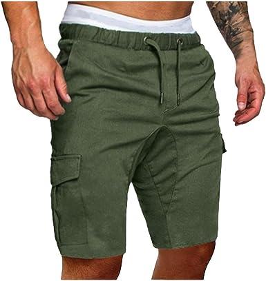 FRAUIT Pantaloni Ragazzo Cargo Slim Fit Pantaloncini Uomo
