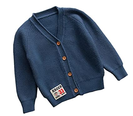 1beebc2ad Amazon.com  NAGU Toddler Sweater V-Neck Wool Long Sleeve Infant ...
