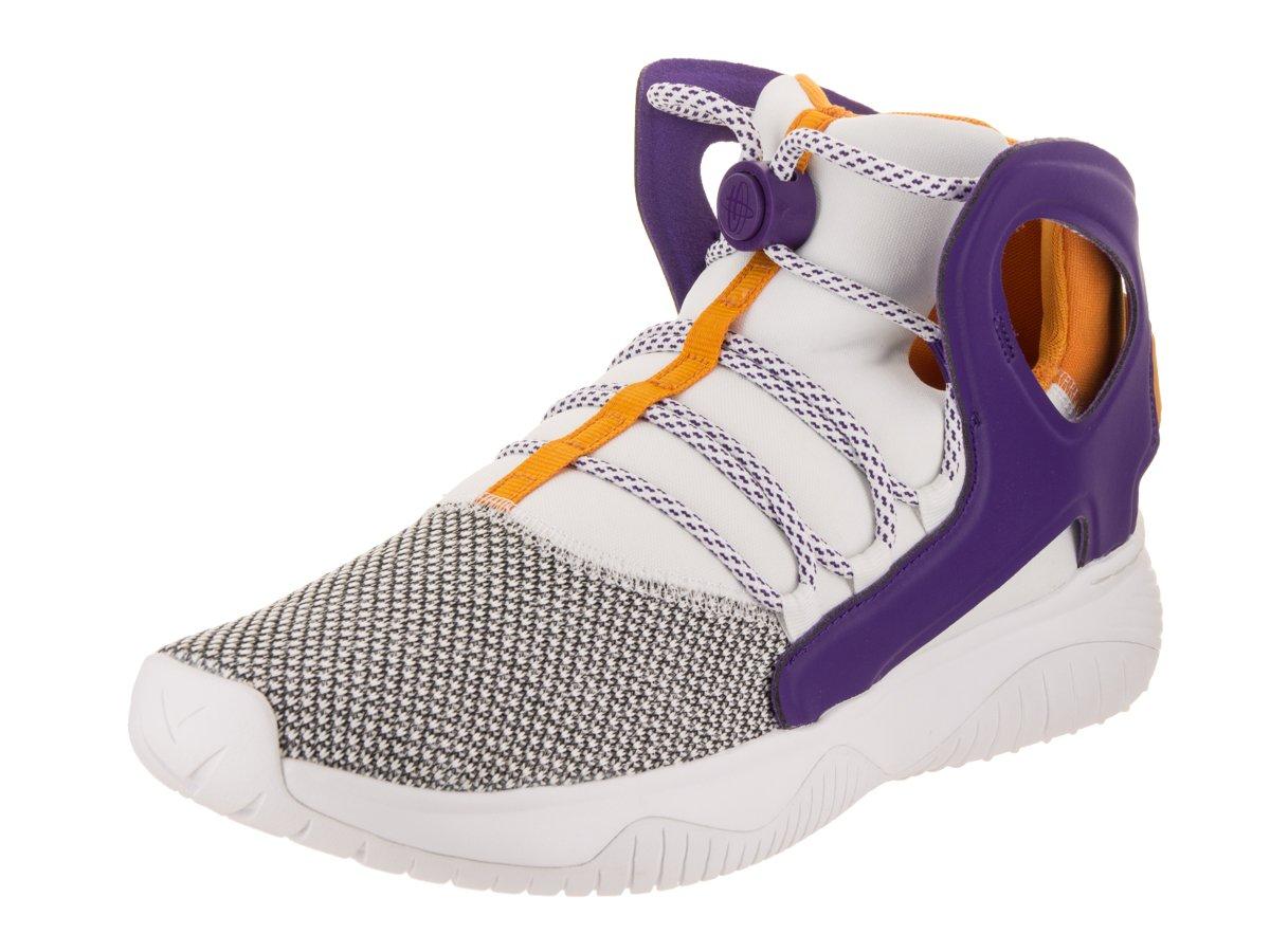 Nike Men's Air Flight Huarache Ultra White/Court Purple/Canyon Gold Basketball Shoe 8 Men US