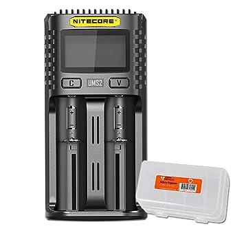 Amazon.com: NITECORE UMS2 - Cargador de batería inteligente ...