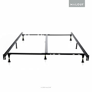 structures low profile 8 leg heavy duty adjustable metal bed frame with glides universal