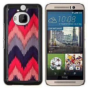 YiPhone /// Prima de resorte delgada de la cubierta del caso de Shell Armor - Acolchado de ganchillo Tela Diseño - HTC One M9Plus M9+ M9 Plus