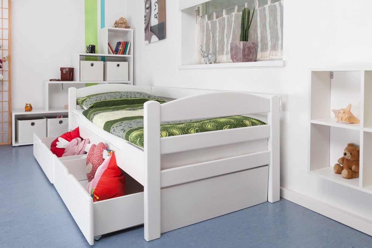 einzelbett mit schubladen buche. Black Bedroom Furniture Sets. Home Design Ideas