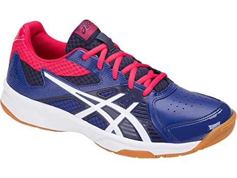 089057e1f Buy Asics Court Break Badminton Non-Marking Indoor Court Shoes - Monaco  Blue White - 8 US Online at Low Prices in India - Amazon.in