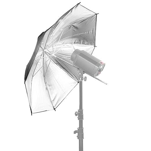 """4 opinioni per Neewer® Professionale 33""""/84cm Nero/Argento Ombrello Riflettore per studio"""
