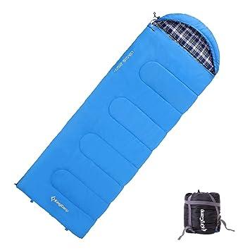 KingCamp Saco de Dormir para Adulto (Talla Grande, 3 Estaciones, 24F/-4C, con Bolsa de Compresión): Amazon.es: Deportes y aire libre