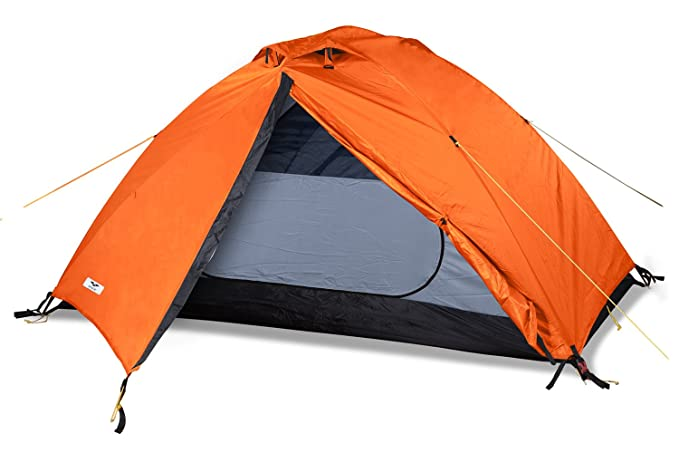 MIER 2 Person Camping Tent Free Standing Outdoor Backpacking Tent with Footprint, Waterproof & Quick Setup, 3 Season