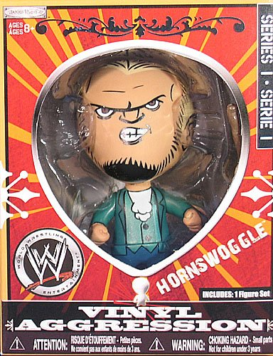 HORNSWOGGLE VINYL AGGRESSION SERIES 1 WWE JAKKS 3 INCH ACTION FIGURE TOY -