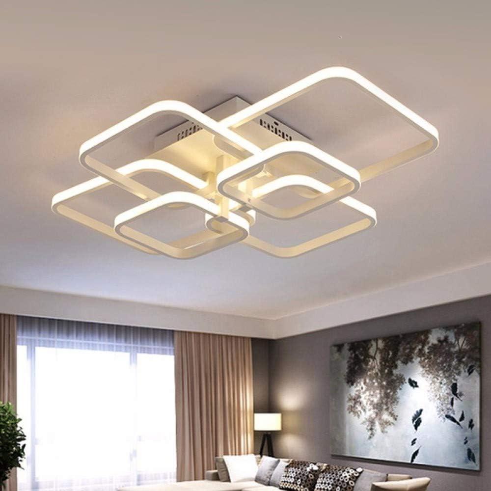 BFMBCHDJ Toque Control remoto Atenuación Lámpara de techo LED moderna Dispositivo de aleación de aluminio Comedor Lámpara de dormitorio Control remoto cambiante 6 cabezas 70X58 cm: Amazon.es: Iluminación