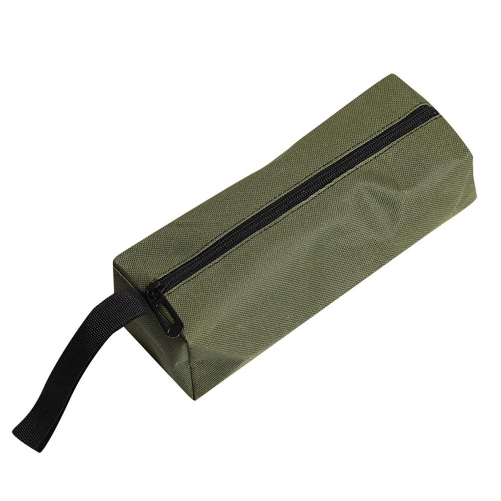 Alelife Hand Tool Zipper Bag Pouch Organize Storage Small Parts Tool Plumber Electrician (Army Green)