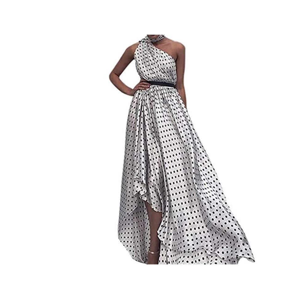 Falda Vestido Vestido largo de fiesta con estampado de lunares ...