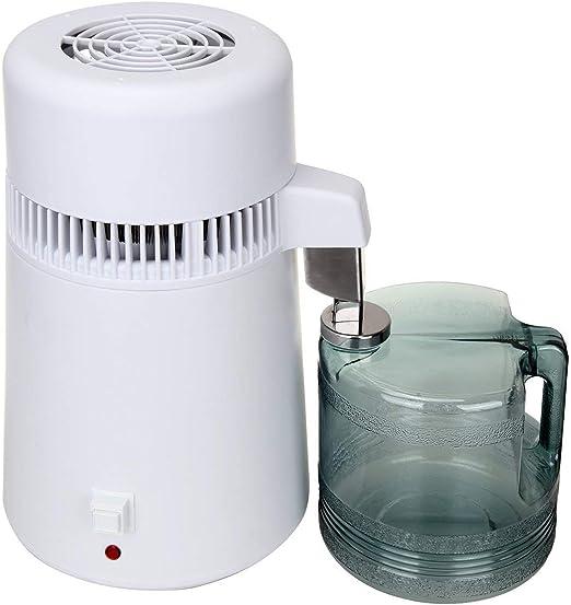 Paneltech 4L 750W máquina de agua pura destilador purificador de filtro de acero inoxidable interior del tanque Inicio de la cocina Office Hospital: Amazon.es: Hogar