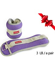 SHOUNg Adjustable Exercise Ankle Weight - Reflective Ankle Weights for Exercise - Hand Weights for Walking - Kids Weight Lifting and Gym for Sale, Purple 1, 2, 3, 4, 5, 6, 8, 10 Pound